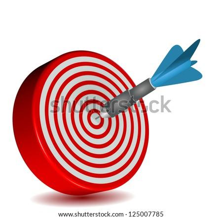 target dart red blue - stock photo