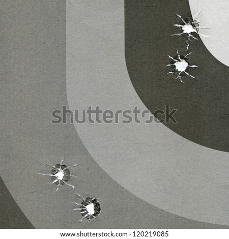 target for practical pistol shooting - stock photo
