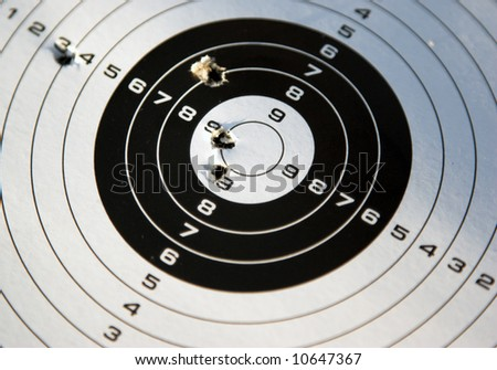Target for shooting practice - stock photo