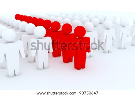Target Group People - stock photo
