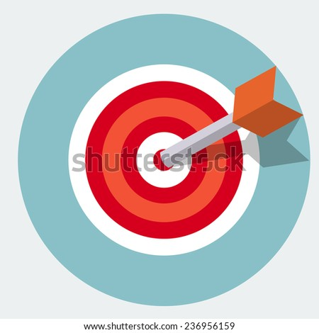 Target icon - stock photo