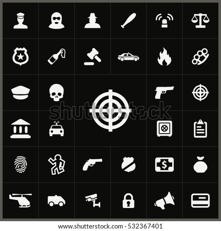 target icon. crime, justice icons universal set for web and mobile