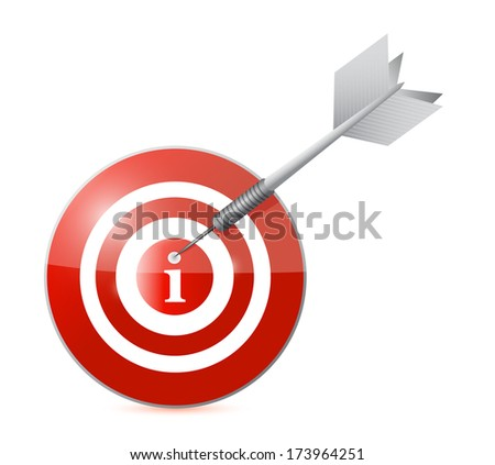 target info illustration design over a white background