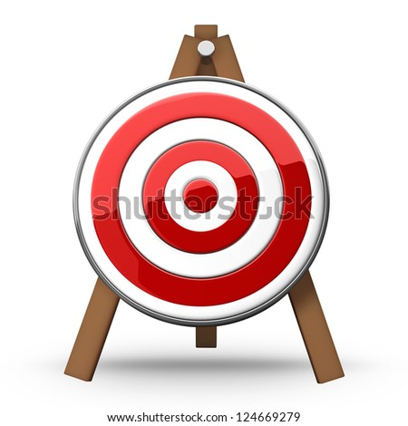 Target isolated on white background high resolution 3d illustration - stock photo