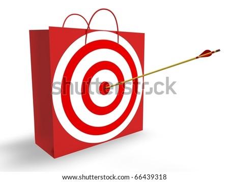 Target Market - stock photo