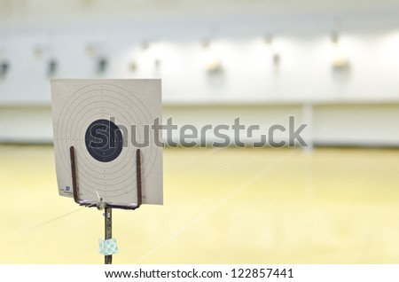 Target of gun shooting - stock photo