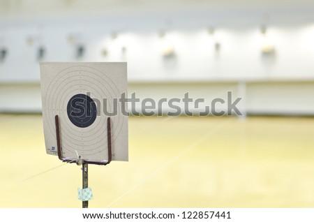 Target of gun shooting - stock photo