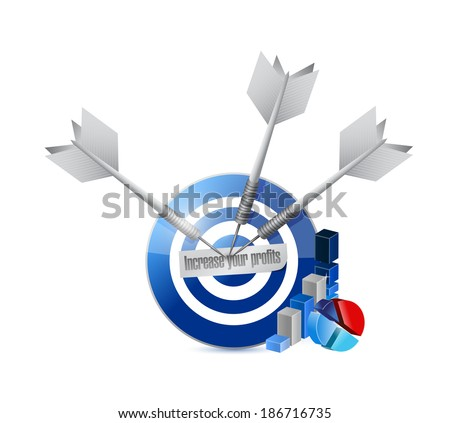 target profit increases. illustration design over a white background - stock photo