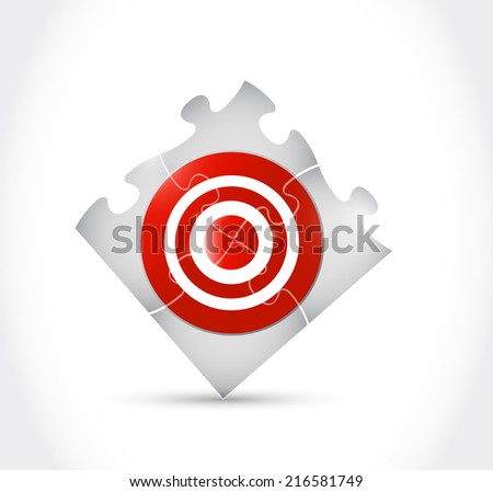 target puzzle illustration design over a white background - stock photo