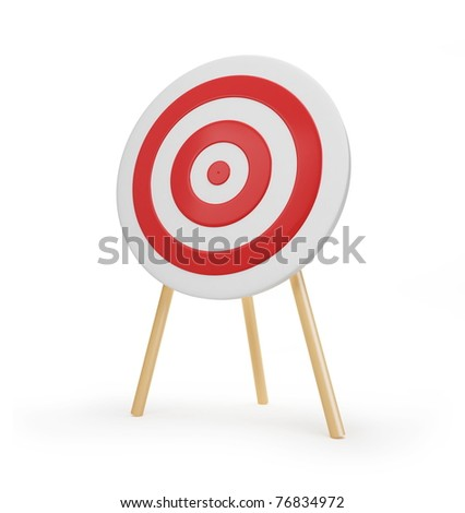 target red on a white background - stock photo