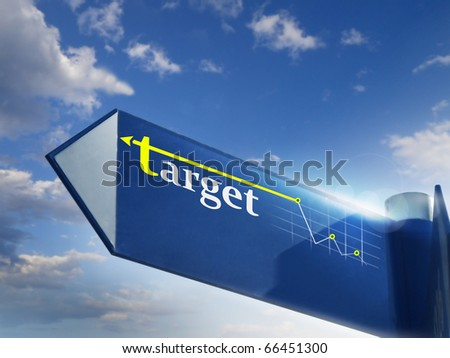 target road sing for business marketing and financial concepts - stock photo