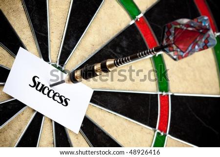 Target success - stock photo