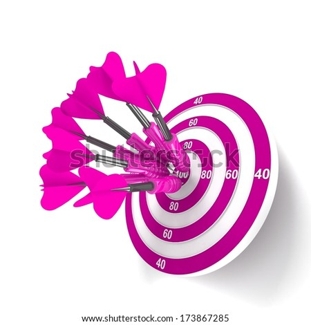 Target. Success concept. 3d illustration - stock photo