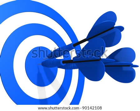 Target. Success concept. This is 3d render illustration - stock photo