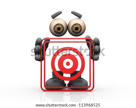 target symbol on a white background - stock photo