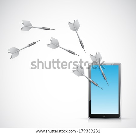 target tablet electronic illustration design over a white background - stock photo