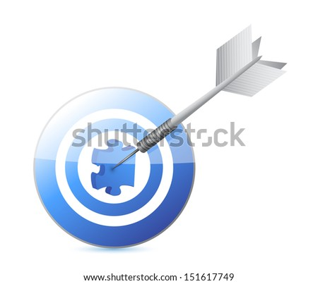 target the missing piece. illustration design over a white background