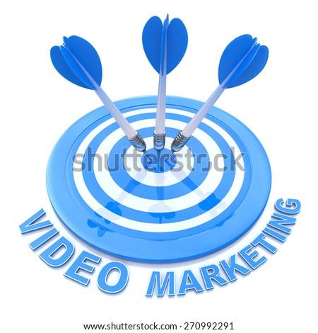 Target Video Marketing  - stock photo
