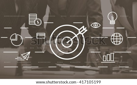 Target Vision Mission Creative Ideas Concept - stock photo