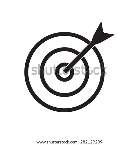 Target with arrow icon or sign. Aim illustration. - stock photo