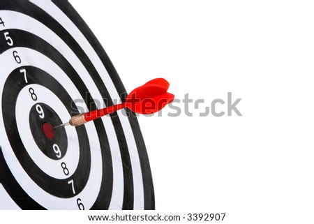 target with arrow  isolated on white background - stock photo