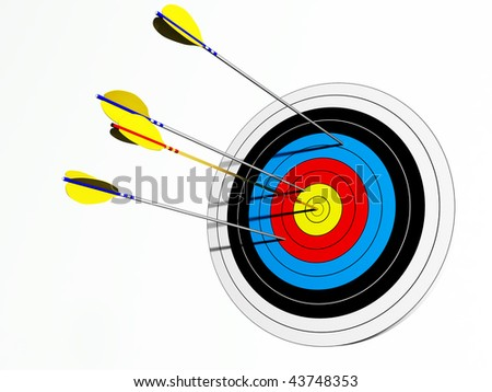 target with different arrows