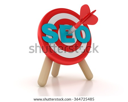 Target with SEO Word - High Quality 3D Rendering - stock photo