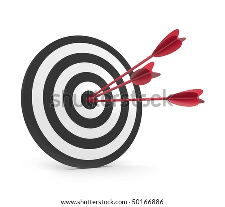 Target with three arrow - stock photo