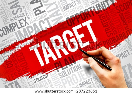 TARGET word cloud, business concept - stock photo