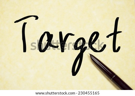 target word write on paper  - stock photo