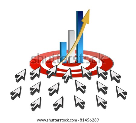 targeting business online success concept - stock photo
