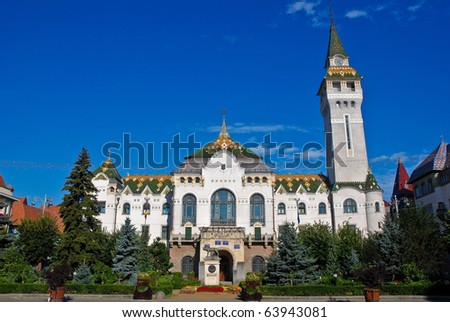 Targu Mures - Administrative Palace - stock photo