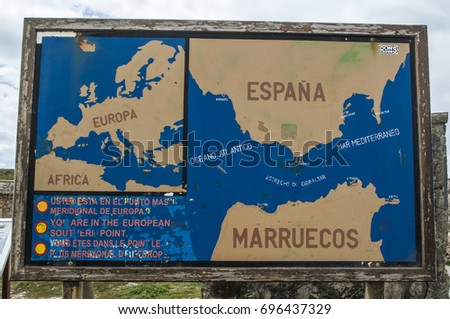 Strait Of Gibraltar Stock Images Royalty Free Images Vectors