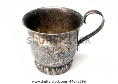 Tarnished Cup - stock photo