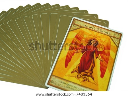 Tarot card on love - stock photo