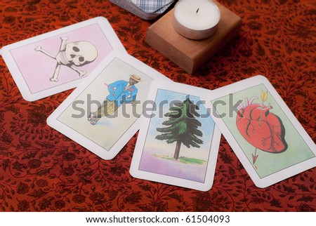 Tarot Future and Fortune Cards - stock photo