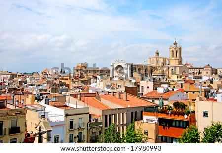 Tarragona cathedral, Catalonia - stock photo