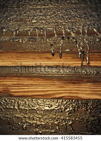 Tarry Wood Texture - stock photo