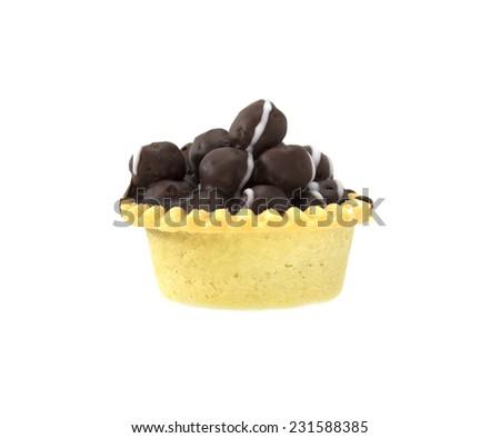 tart choc pop isolate,on white Background - stock photo