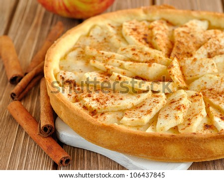 Tart with apples - stock photo