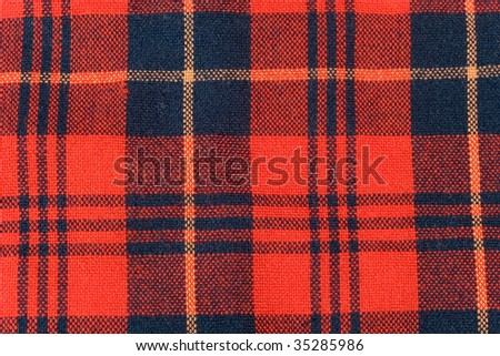 Tartan fabric (as a background) - stock photo
