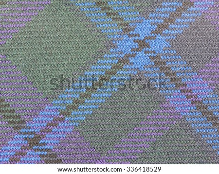 Tartan fabric texture useful as a background