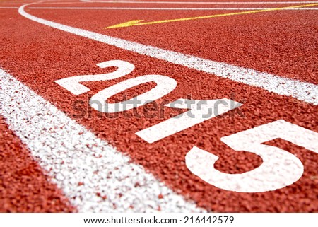 Tartan surface with year 2015 numbers - stock photo