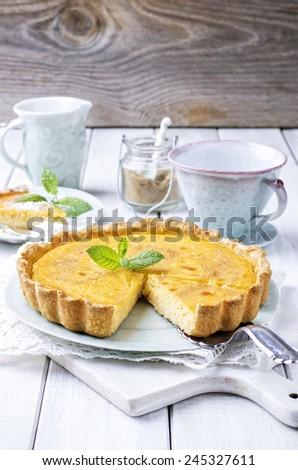 Tarte au Citron - stock photo