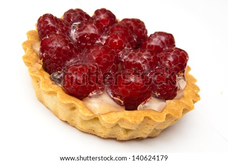 Tartelette with raspberries