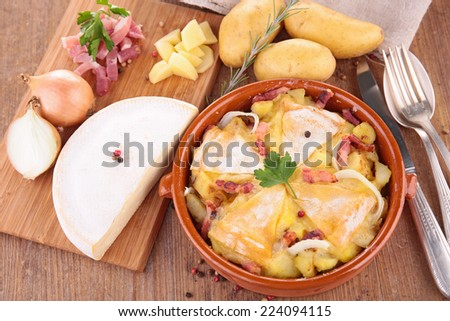 tartiflette - stock photo