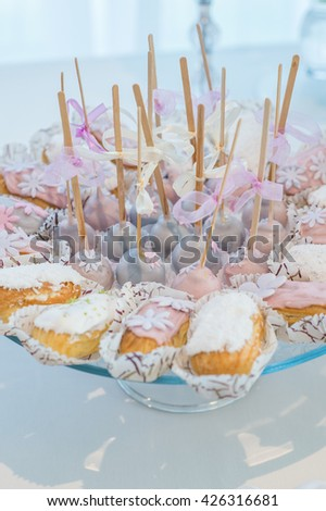 tartlets at the wedding - stock photo