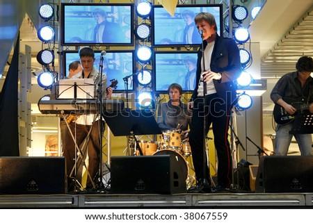 TARTU, ESTONIA - MARCH 15: Margus Vaher Band live concert on 15th March, 2008 in Tartu, Estonia. - stock photo