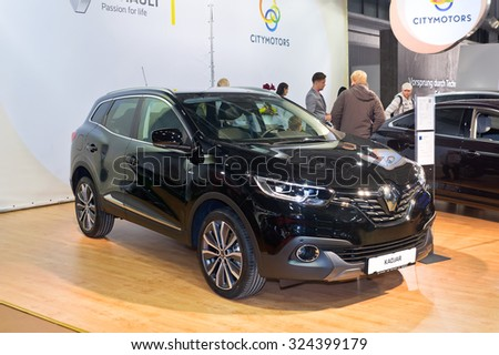 Tartu - September 26: Renault Kadjar at the Tartu Motoshow on September 26, 2015 in Tartu, Estonia