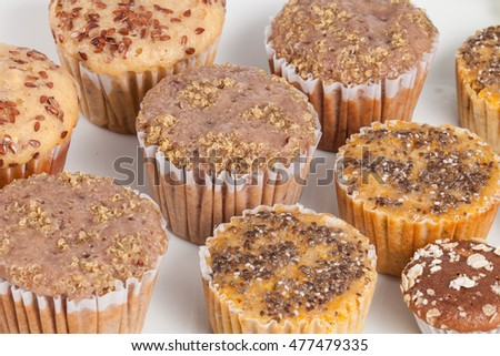tasty and healthy  muffin cakes